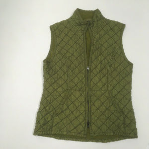 2c406cdf27 Cut Loose Womens sz XS Green Quilted Vest